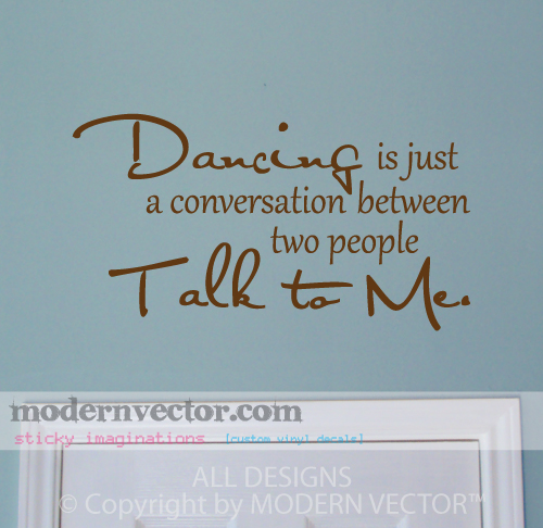 TALK TO ME Vinyl Wall Quote Decal HOPE FLOATS DANCE on PopScreen