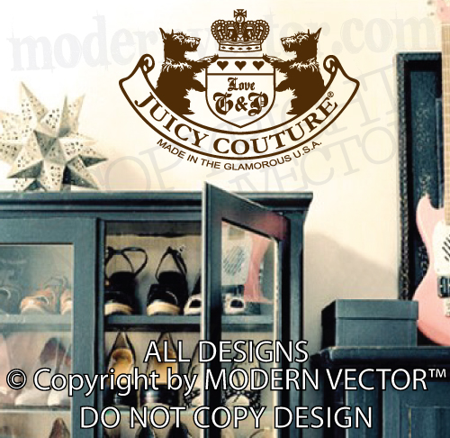 juicy couture vinyl wall decal lettering sticker quote
