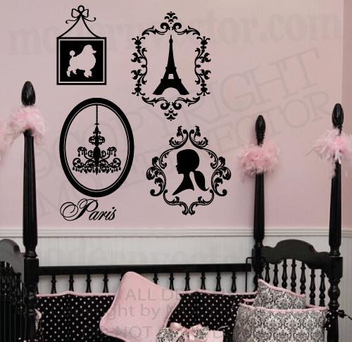 Love Paris Girls Twin Pink White And Black Cute Parisian Bedding Home Design 2017